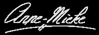 Anne's full name: Anne-Mieke, in her own handwriting